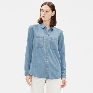 NWT! Eileen Fisher Petite Organic Denim Shirt